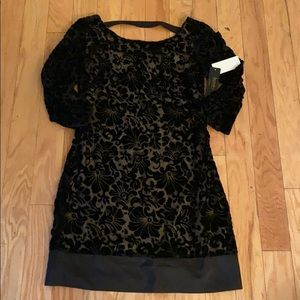 NWT laundry by shelli segal black floral dress
